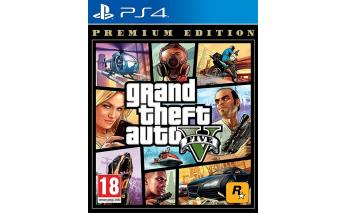 Игра для Sony PS4 Grand Theft Auto V. Premium Edition, русские субтитры