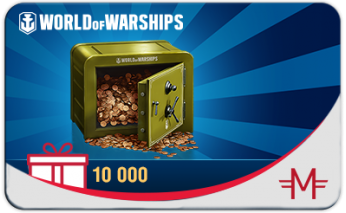 Сертификат World of Warships на 10000 дублонов